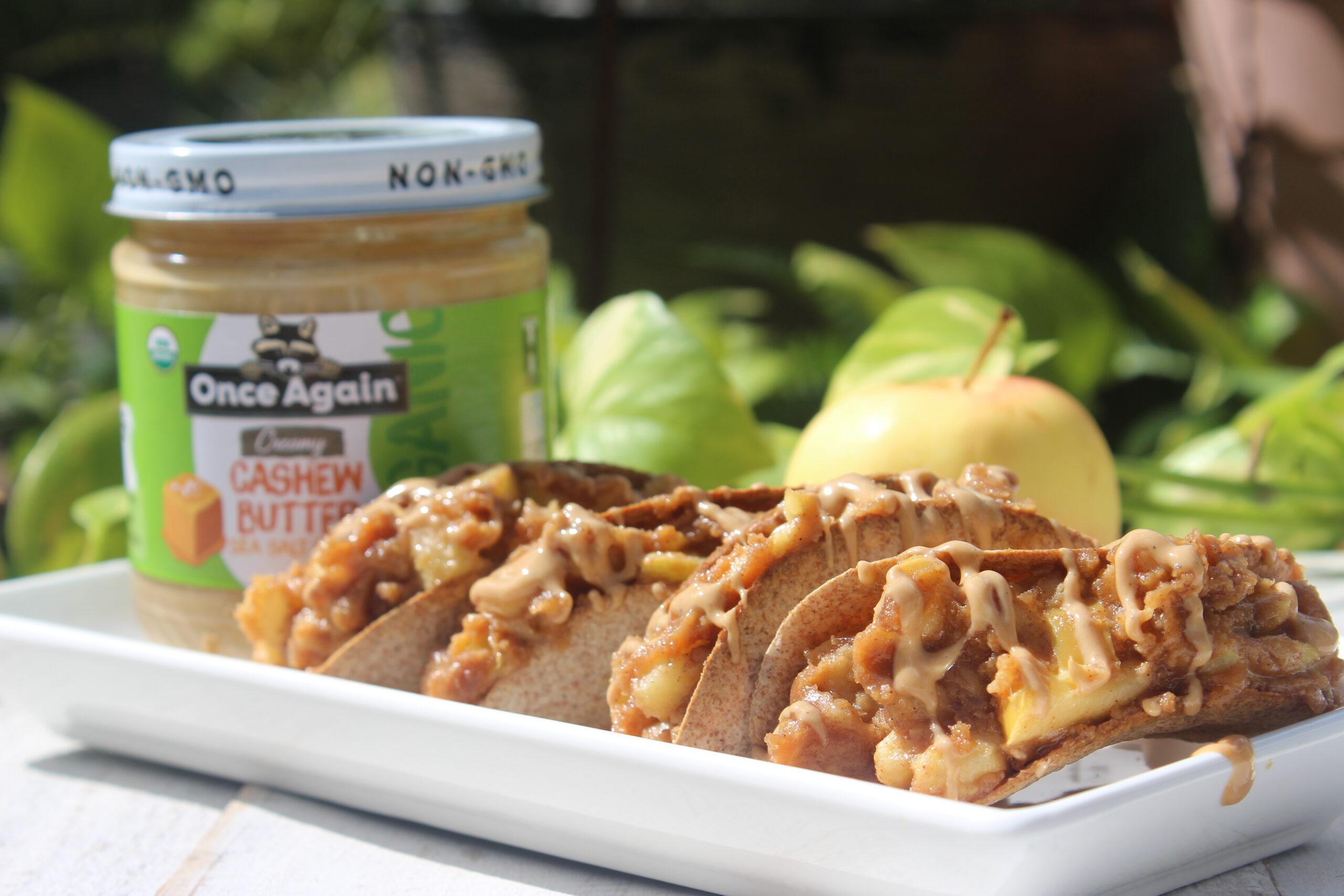 apple caramel tacos