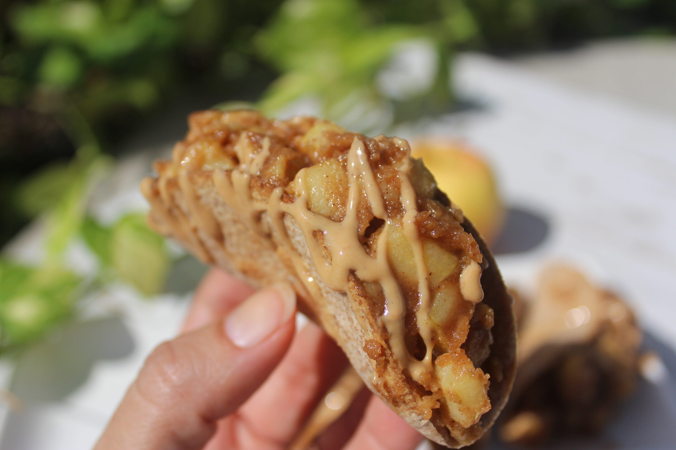 caramel apple taco